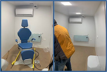 Work on mobile eye care van