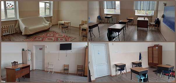 Renovations of classrooms at Nubarashen