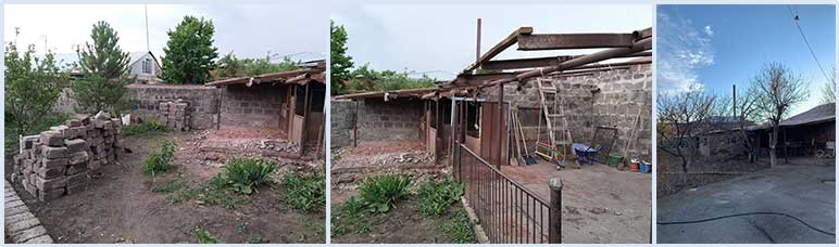 Demolition of the barn at the SOAR Transitional Center