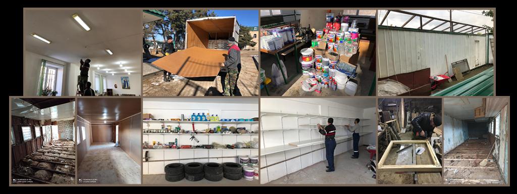 OLA-Tashir facility renovations-beginning