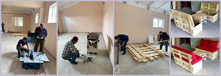 Kharberd wood shop projects under way
