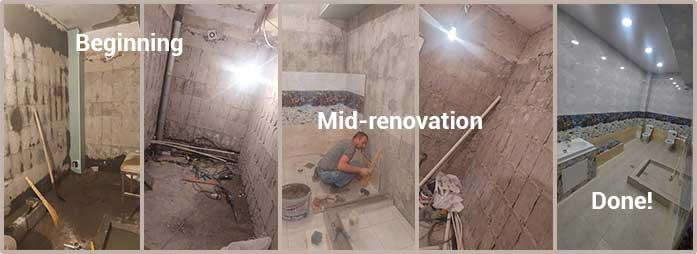 Bathroom renovations at Nork Orphanage