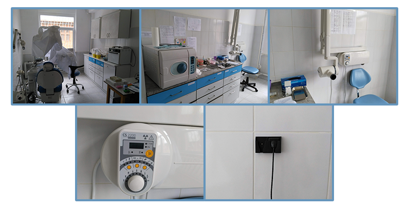 Upgraded dental rooms with digital x-rays in Tsaghkadzor camp
