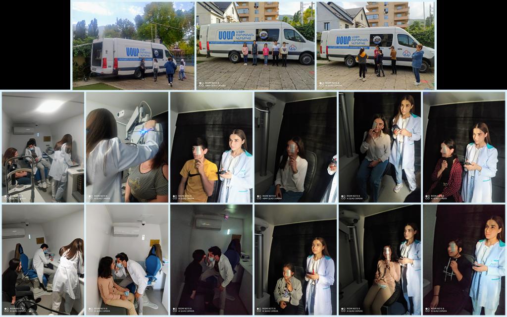 Mobile Eye Care Van visit to Orran