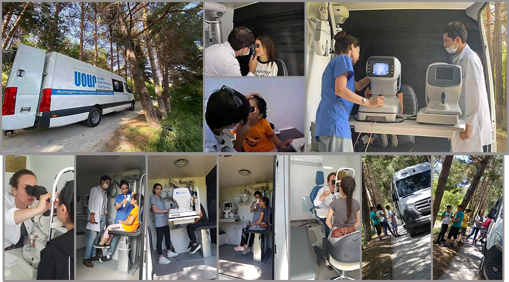 Mobile Eye Care at Tsakhkadzor camp