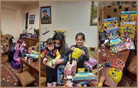 Christmas gifts for the children of fallen soldier, Gevorg Gasparyan