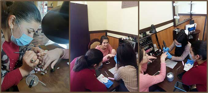Graduation of manicure classes for wife of Tigran Goginyan