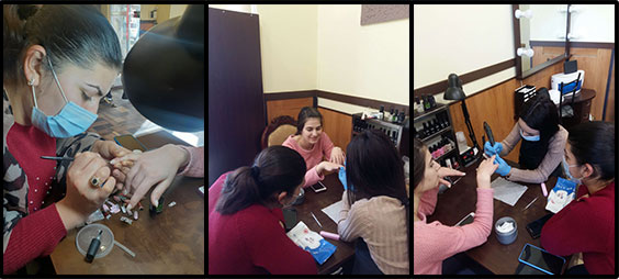 Manicure classes for the wife of fallen soldier, Tigran Goginyan