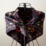 Armenian Bird Letters 100% Silk Scarf from Sartorial Armenians Custom Clothiers