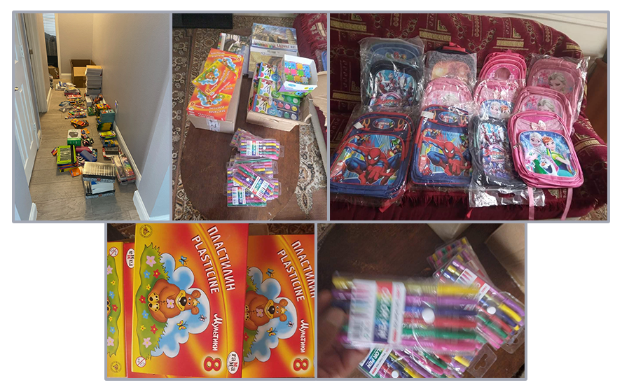 School supplies for OLA funded by SOAR Dallas