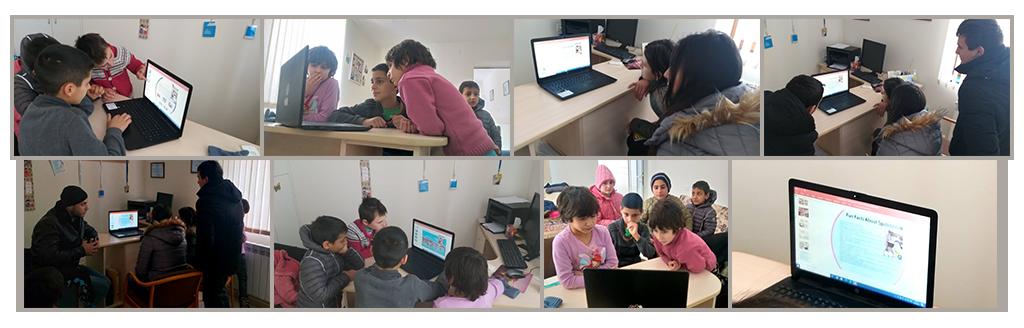 SOAR Daimus CDP presentation to displaced Artsakh children at Boarding School #1, Gyumri