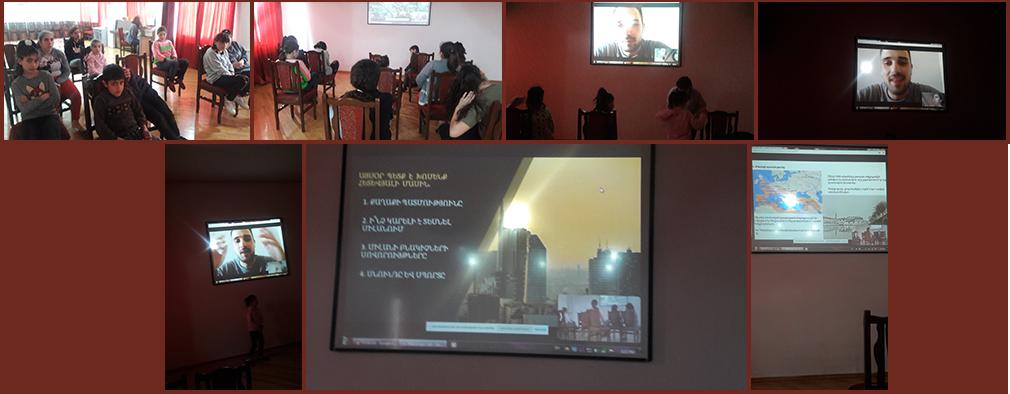 Milan CDP presentation to Gavar Orphanage children