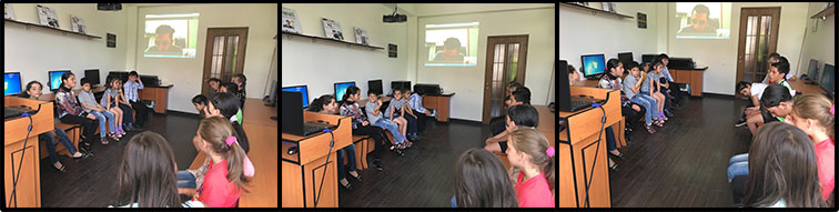 SOAR Madrid gave a presentation to the children at Orran
