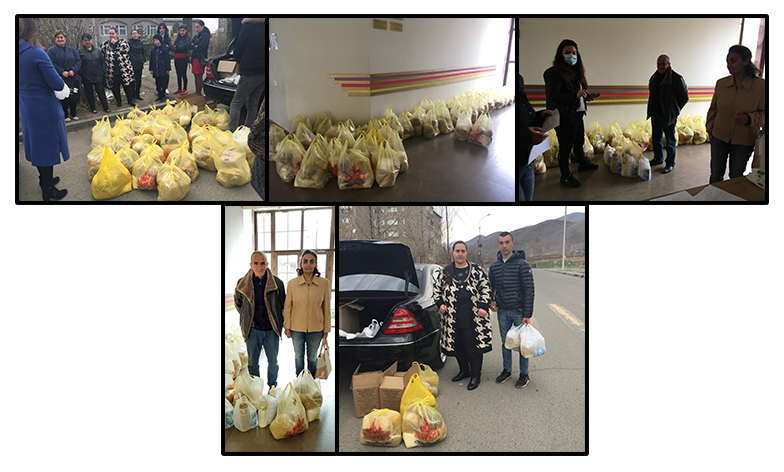 Food packages for families of Orran children