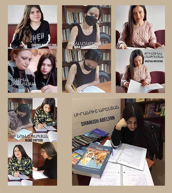 Graduation for girls at Vanadzor
