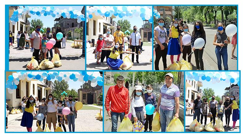 Orran families celebrating Children's Day in Armenia