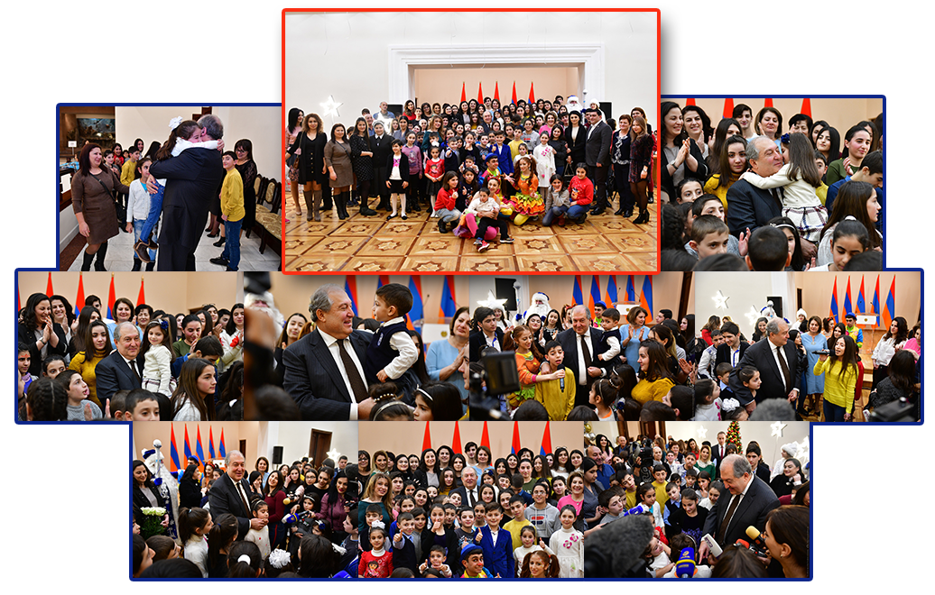 Reception for the children by the President of Armenia, Armen Sargsyan