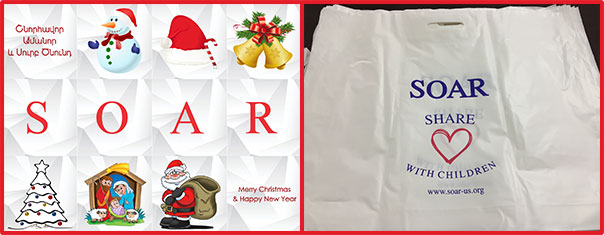 Gift bags and chocolates for every child for Christmas at the institutions SOAR supports
