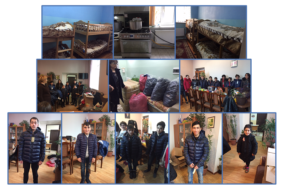 Winter coats, warm blankets and a kitchen stove for the children at Orphanage of Fridtjof Nansen funded by SOAR Moscow