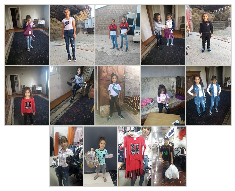 Seven children from Zatikavan went shopping for school clothing after SOAR received a call that the families were not able to purchase any clothing for their children, and school was starting that week!