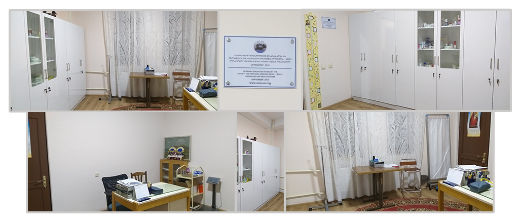 Completion of renovations of the infirmary at OLA Gyumri that began last September, funded by SOAR London and SOAR San Diego