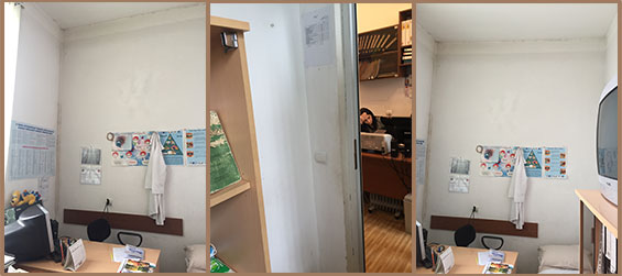 Pre-renovation of infirmiry at Gyumri Social Childcare Center funded by SOAR Naples