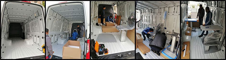 Mobile Eye Care Van Being Outfitted