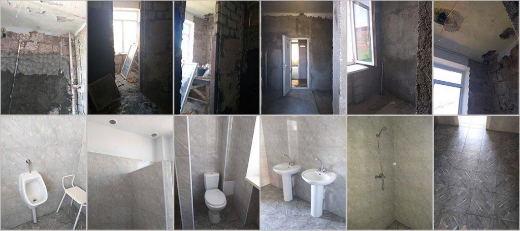 Renovation of bathrooms at Dzorak