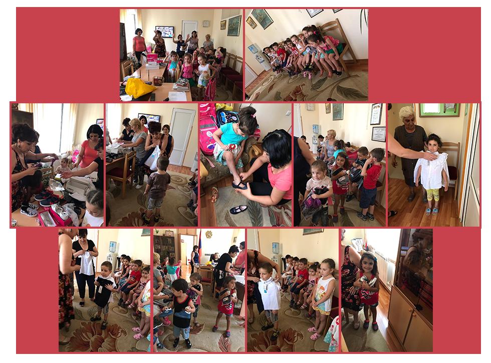 Shengavit Kindergarten clothes and school supplies
