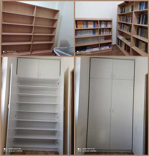 Bookshelves and shoe closet for OLA Kanaker