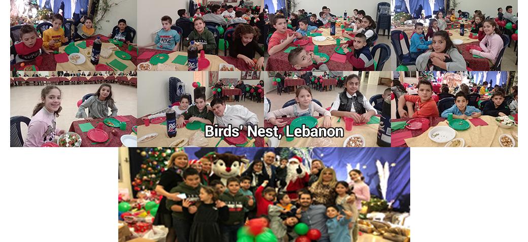 Christmas celebration for Birds' Nest Orphanage in Lebanon
