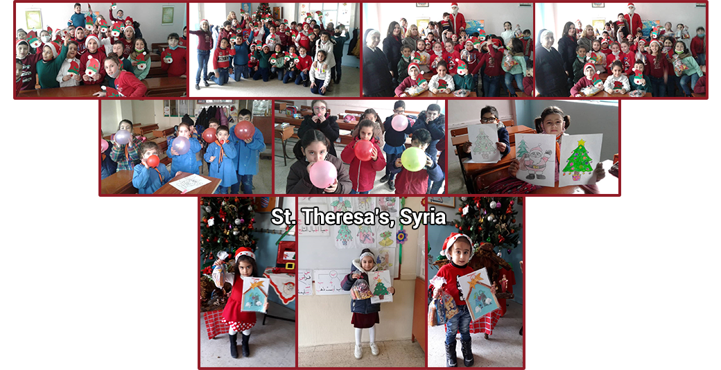 Christmas for St. Theresa's facilities in Syria