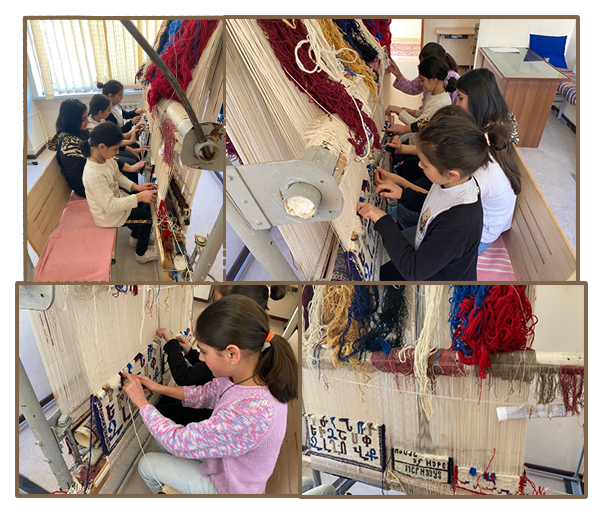 Carpet weaving classes for girls at Naghasyan Children's Support Center (formerly Mer Hooys)