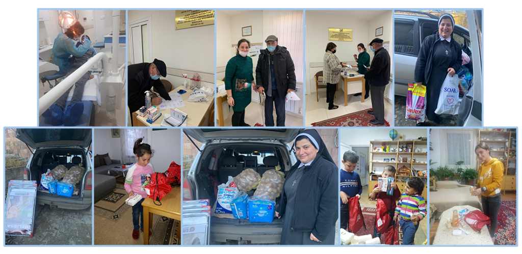 Aid for Artsakh families at OLA and SOS