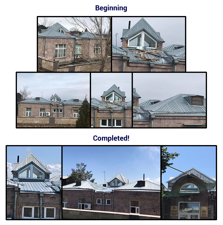 Gyumri Social Childcare Center roof repairs