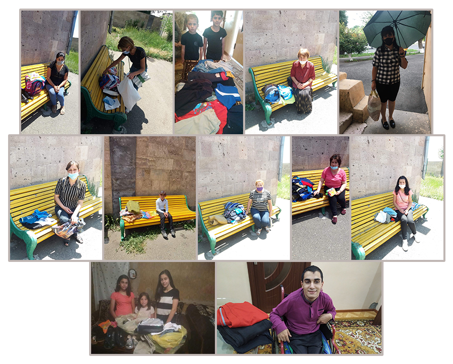 Four boxes of clothing for Gyumri Social Childcare Center