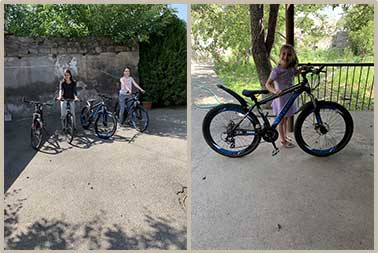 New bikes for the girls at the SOAR Transitional Center